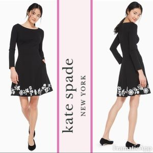 ♠️Kate Spade Broome Street Embroidered Ponte Dress